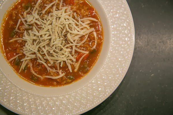 Crockpot Stuffed Pepper Soup