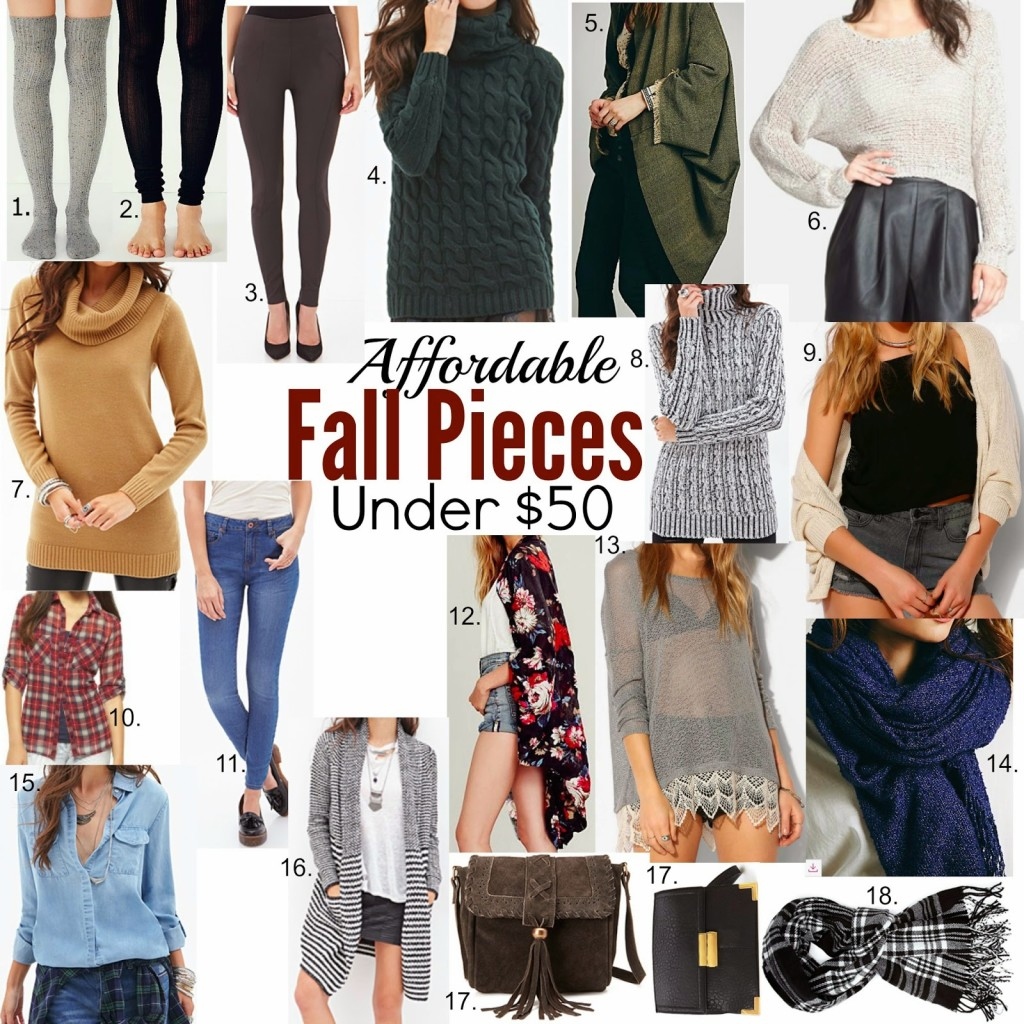 Affordable Fall Fashion Pieces Under $50!!
