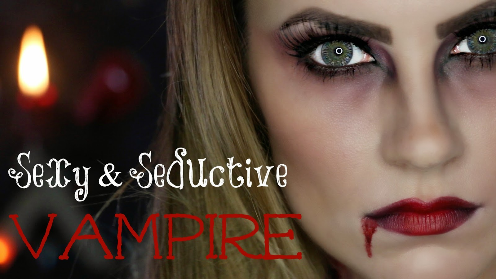 video sexy seductive vampire halloween makeup tutorial hello gorgeous by angela lanter. Black Bedroom Furniture Sets. Home Design Ideas