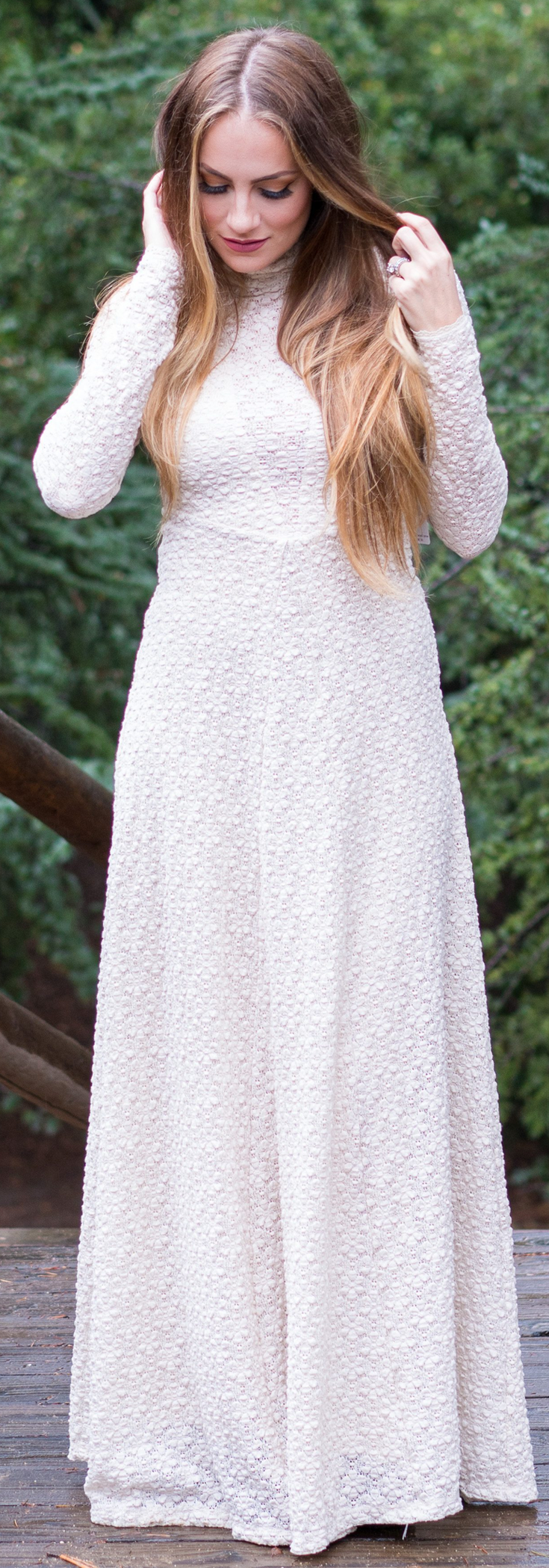Bohemian New Year Outfit. Stunning long white dress.