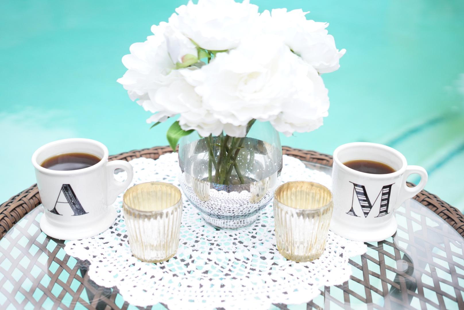 poolside coffee anthropologie monogram coffee mug angela lanter hello gorgeous