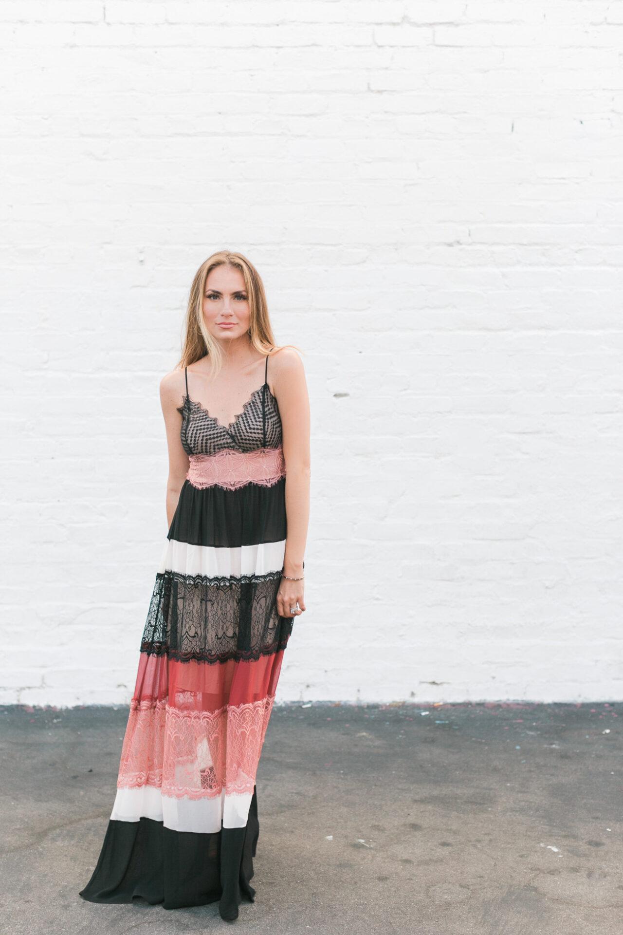 Bailey 44 'Desert Sunset' Lace & Silk Chiffon Maxi Dress angela lanter hello Gorgeous