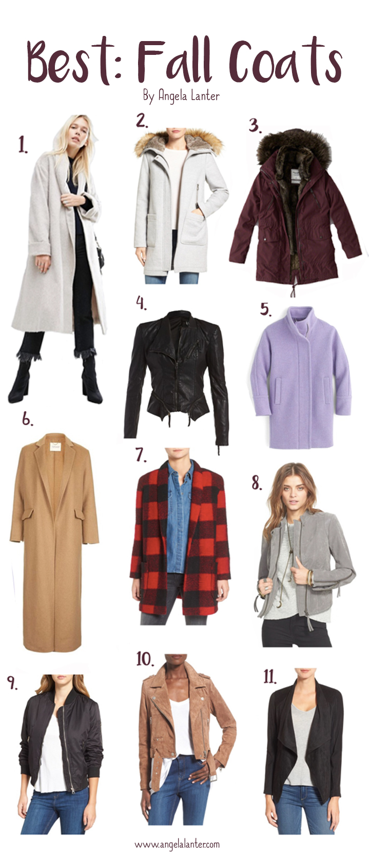 The most beautiful coats for Fall - by Angela Lanter - Hello Gorgeous