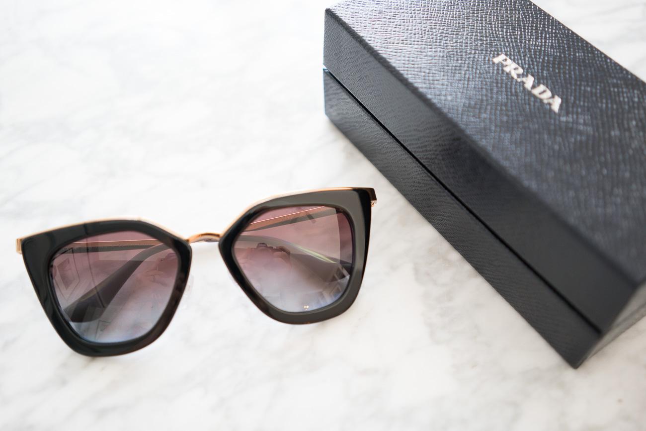 Prada Metal Bridge Sunglasses ShopBop Sale April 2017 Angela Lanter Hello Gorgeous