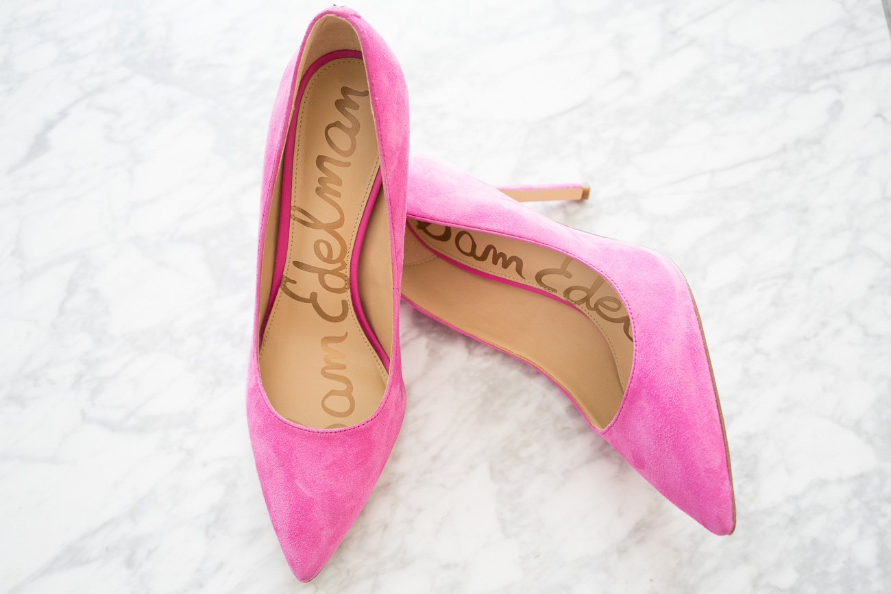 Sam Edelman Hot Pink Hazel Pumps ShopBop Sale April 2017 Angela Lanter Hello Gorgeous