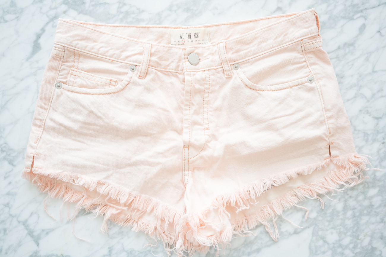 Free People Denim Frayed Hem Shorts ShopBop Sale April 2017 Angela Lanter Hello Gorgeous