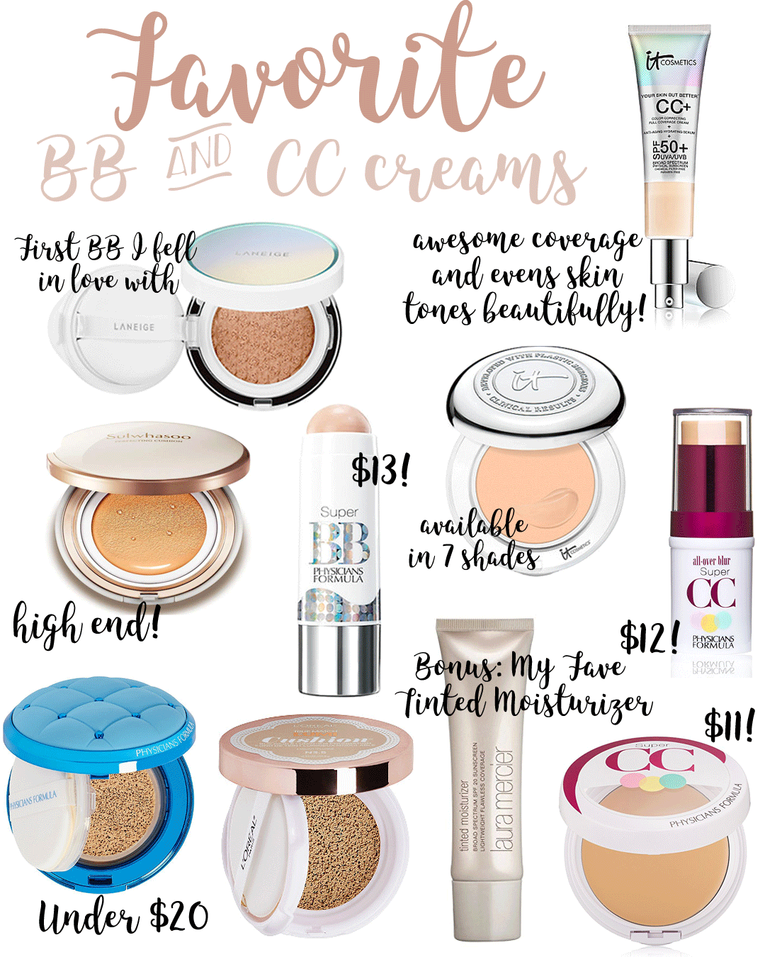 Favorite BB & CC Creams angela lanter hello gorgeous
