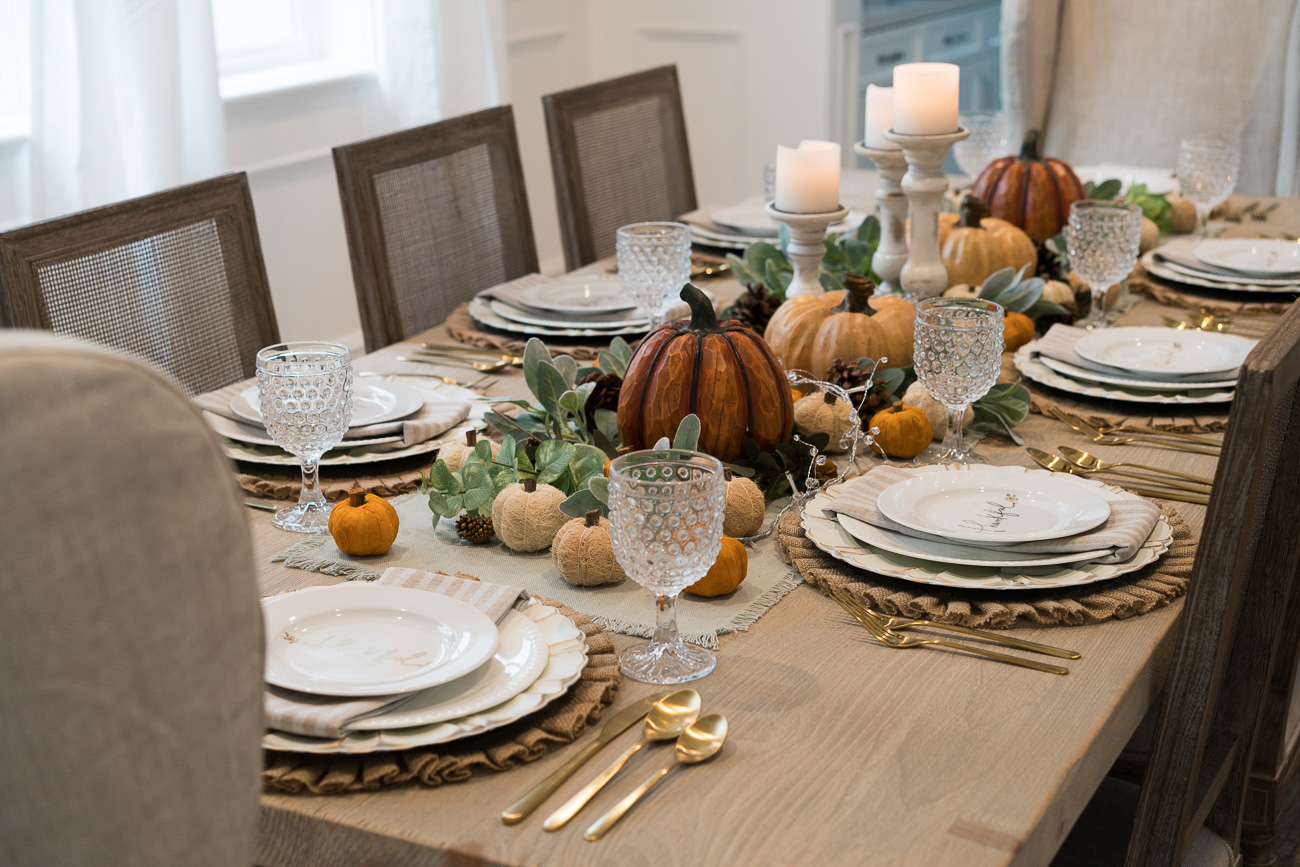 Dining Room Reveal & Thanksgiving Tablescape Angela Lanter Hello Gorgeous