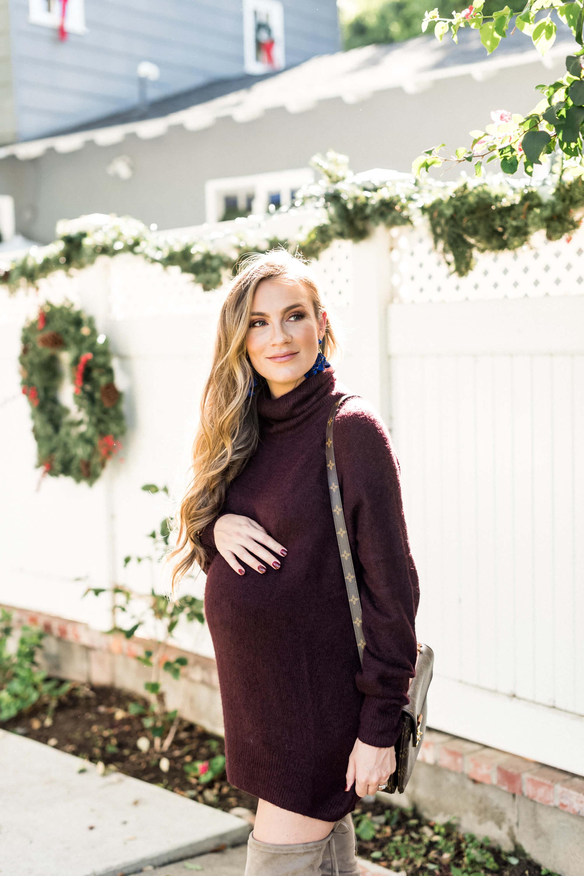 Maternity Sweater Dress Angela lanter hello gorgeous