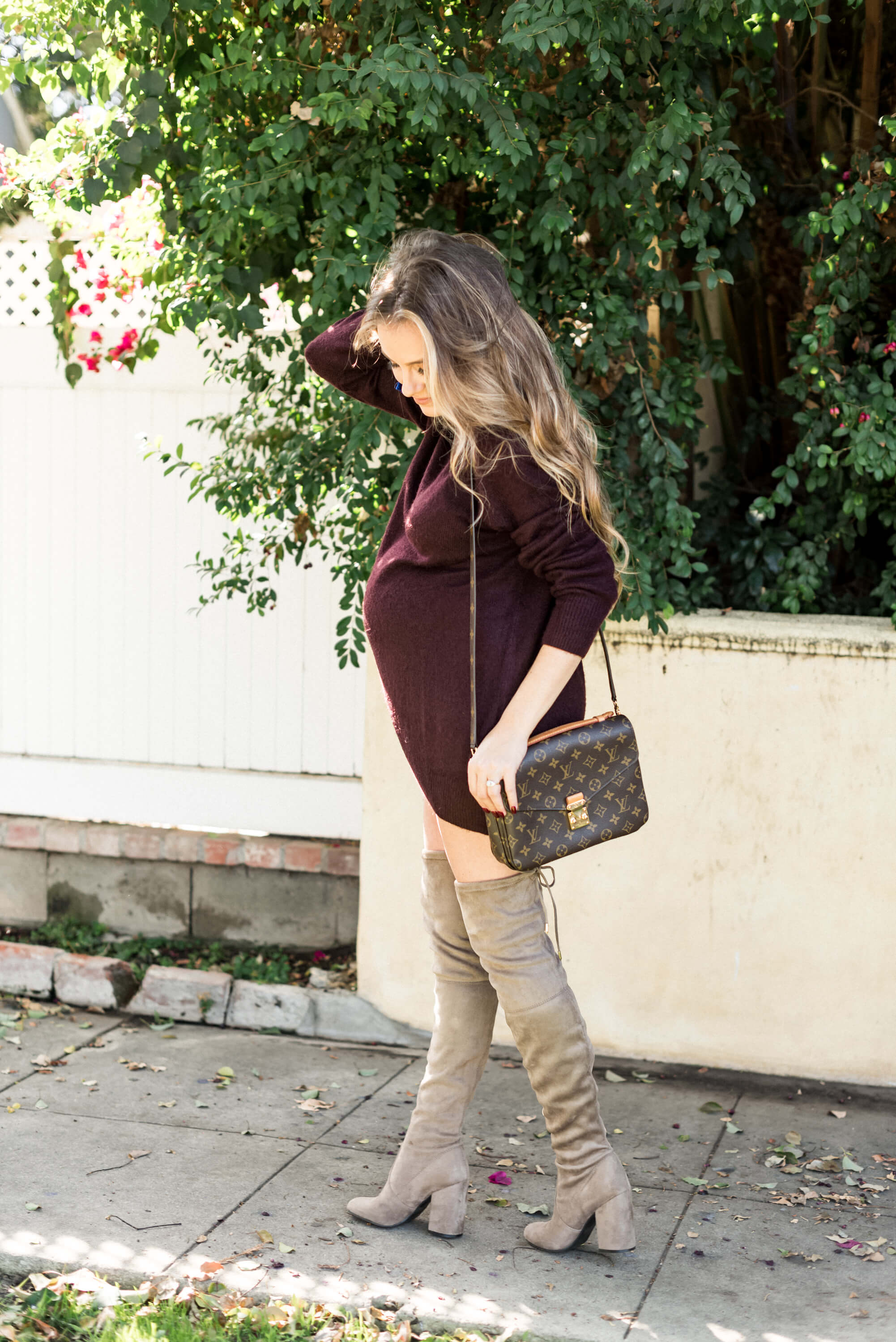 Maternity Sweater Dress Angela lanter hello gorgeous