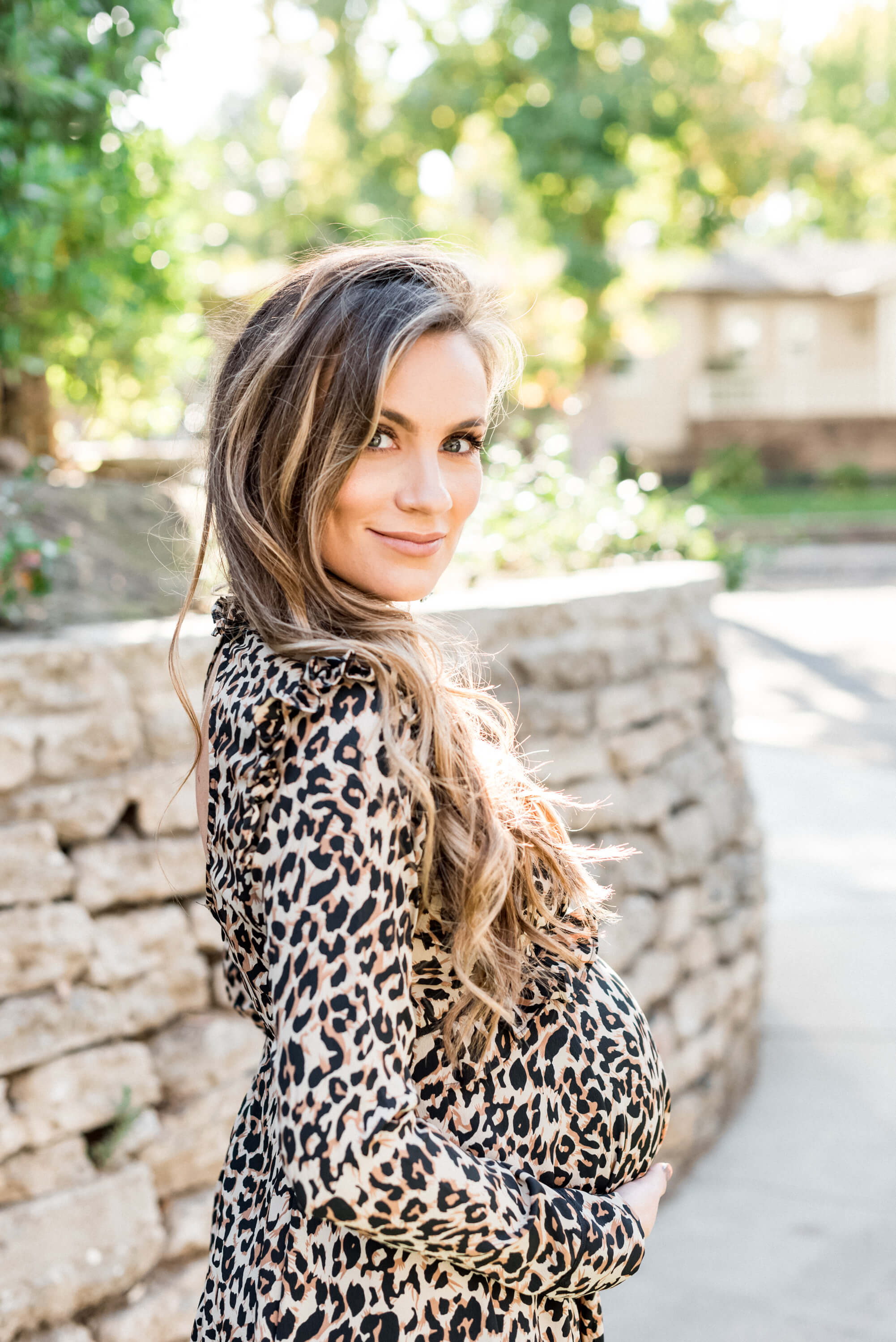 angela Lanter Hello Gorgeous maternity style leopard print dress ASOS