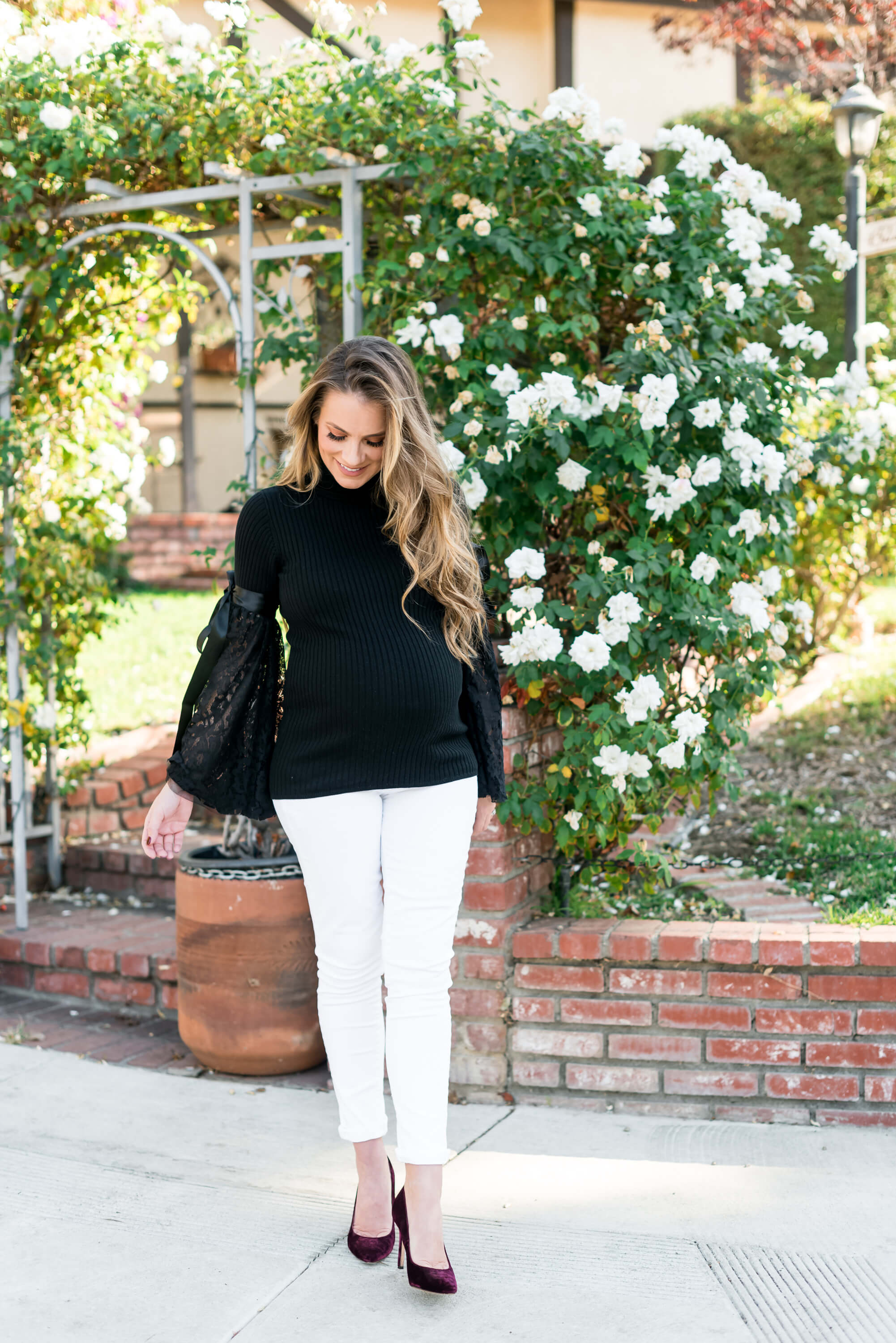 maternity ASOS sweater angela lanter hello gorgeous