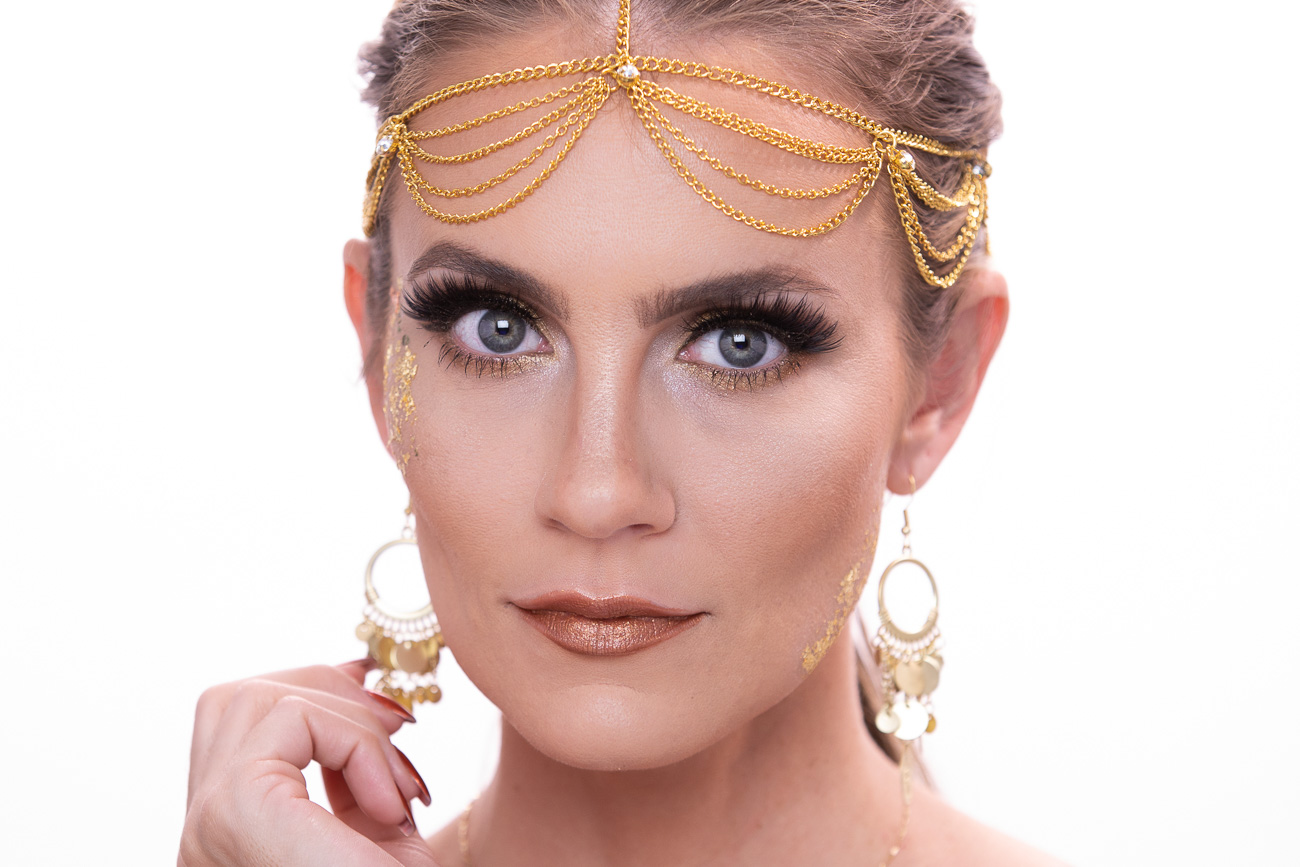 Golden Greek Goddess Halloween Makeup Tutorial