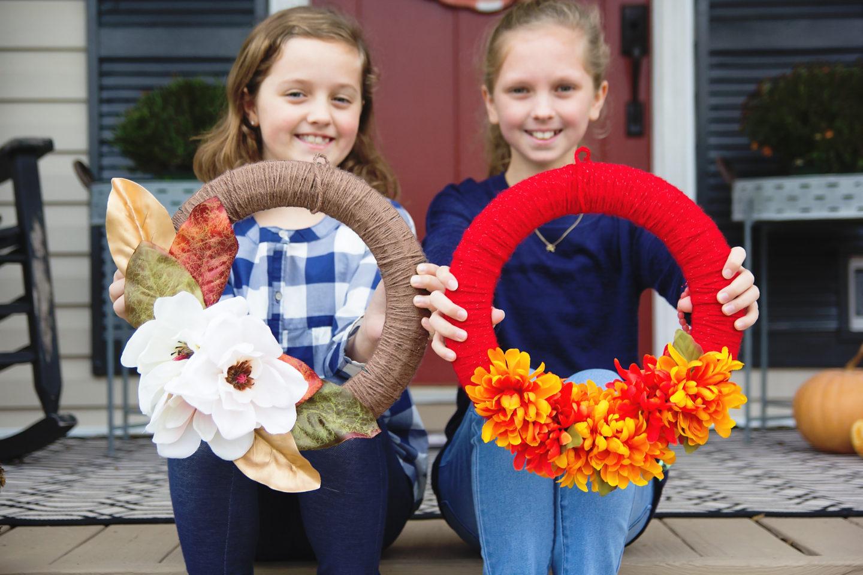 kid-friendly fall wreath