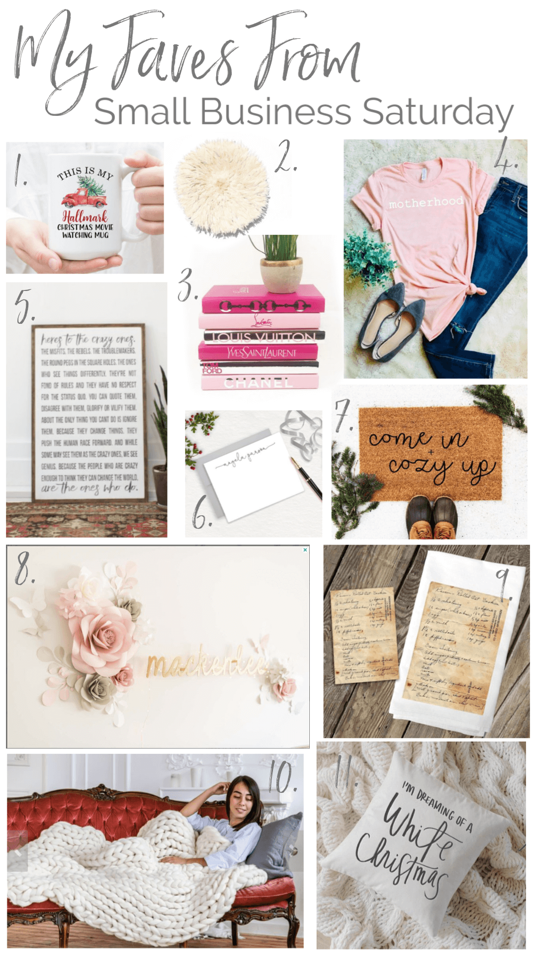 Small Business Saturday - My Faves