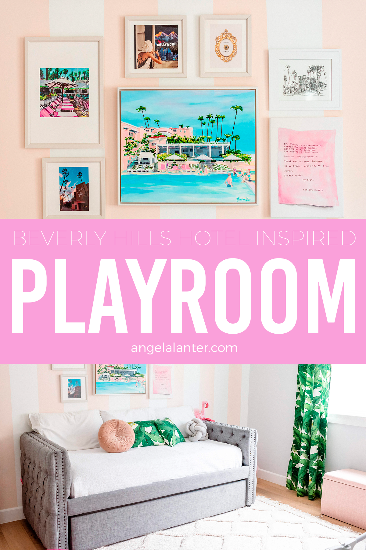 Our Beverly Hills Hotel Inspired Playroom Tour