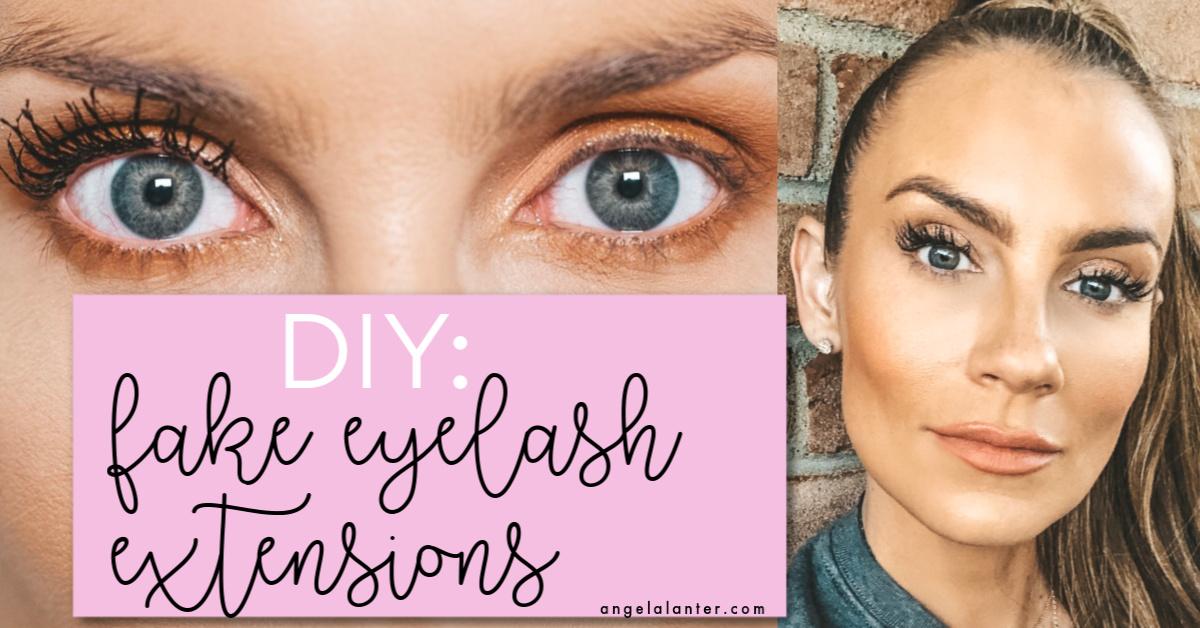 How to Fake Eyelash Extensions
